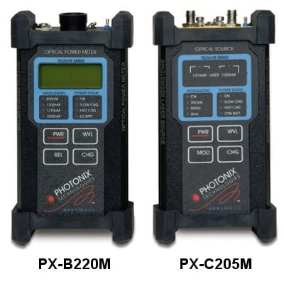 Photonix PX-D109M Techlite MIL MMF Military Standard Fiber Optic Loss Set