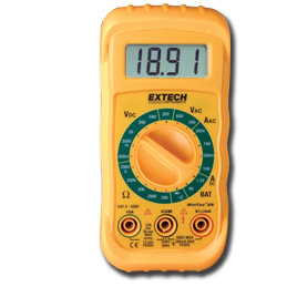 Extech MN25 Miniature MiniTec Manual Ranging Multimeter