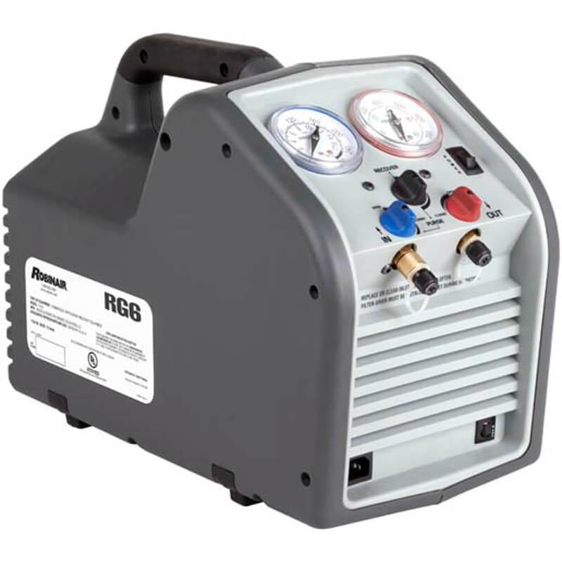 Robinair Ac Machine >> Robinair Rg6 Compact Hvac Refrigerant Recovery Machine