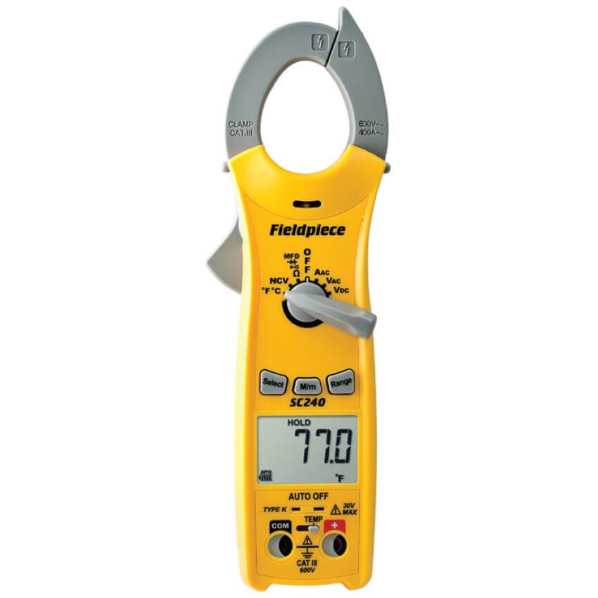 The Best Hvac Clamp Meter : Fieldpiece sc compact series digital clamp meter