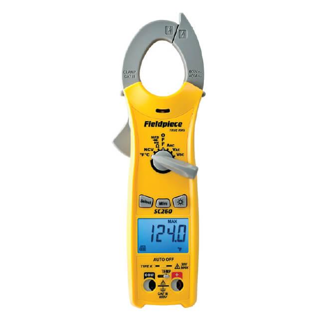 The Best Hvac Clamp Meter : Fieldpiece sc compact series digital clamp meter true rms