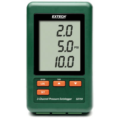 Extech SD750 3 Channel Datalogger for Pressure