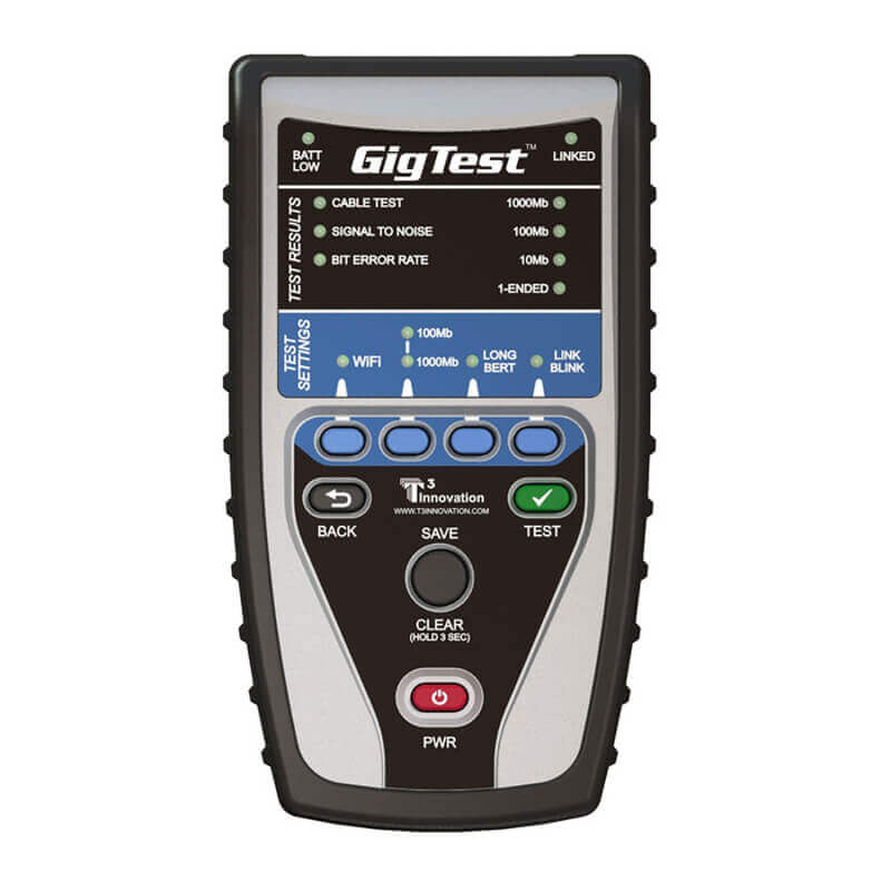 T3 Innovation GT1000 GigTest Ethernet Speed Tester for Network Cables