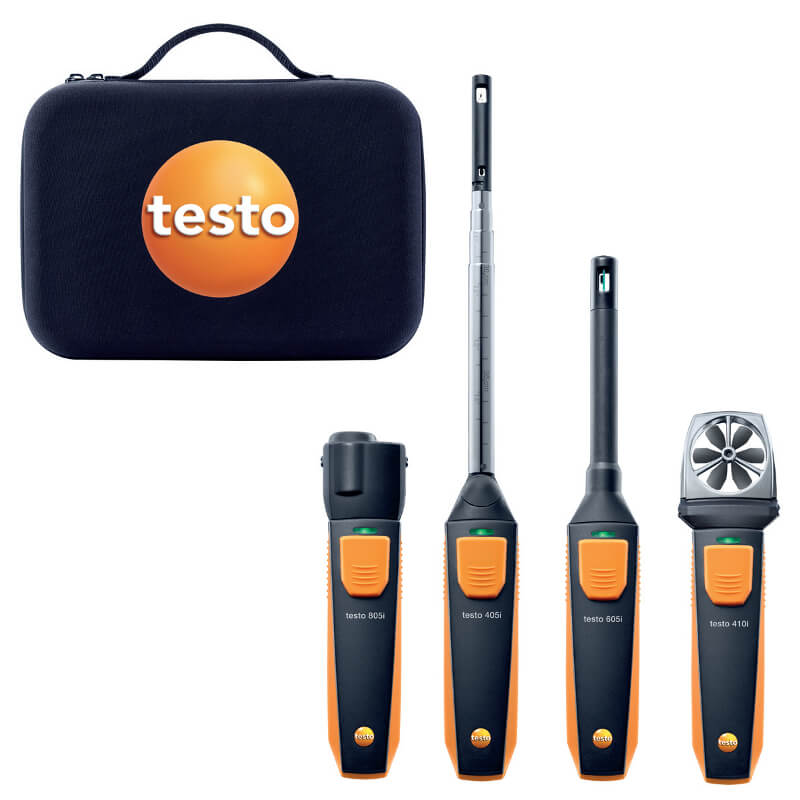 Testo 0563-0003 VAC Wireless Smart Probe Kit for Ventilation and Air Conditioning