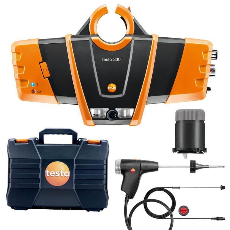 Testo 330i Combustion Flue Gas Analyzer Wireless NOx Kit