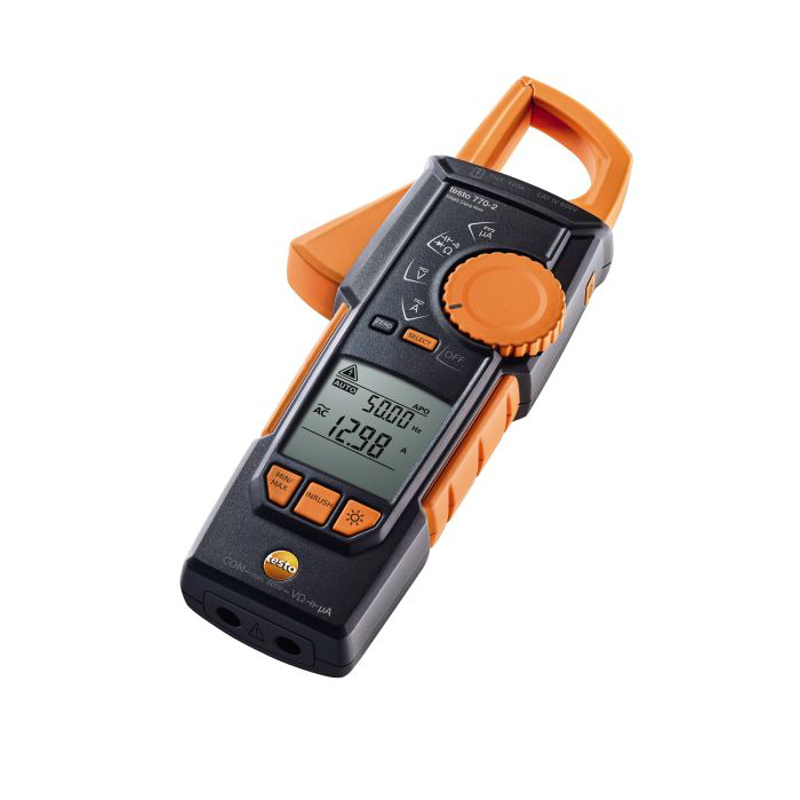 Testo 770-2 Digital Clamp Meter TRMS Inrush Current and Temperature Test