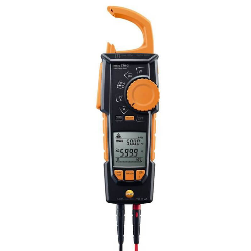 Testo 770-3 Digital Hook Clamp Meter TRMS Wireless