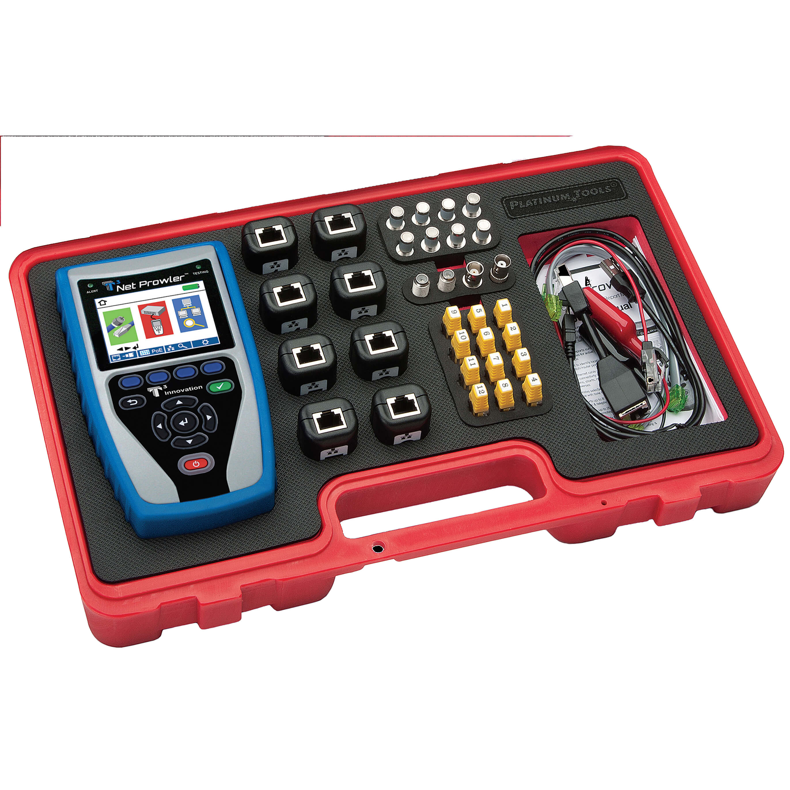 Platinum Tools TNP850K1 Net Prowler Pro Network Troubleshooting Test Kit
