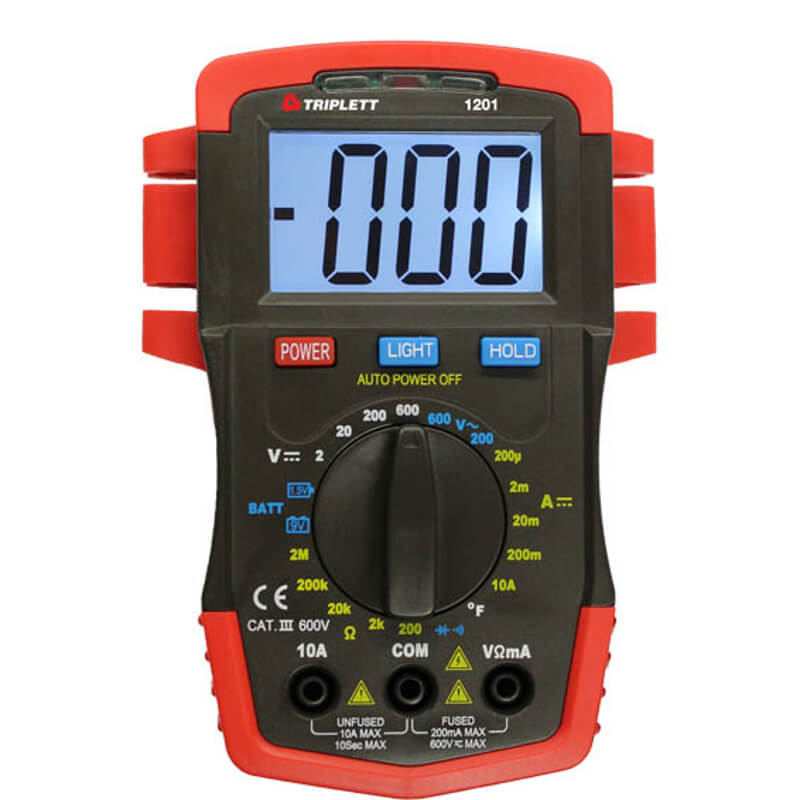 Triplett 1201 Compact Digital Multimeter Handheld