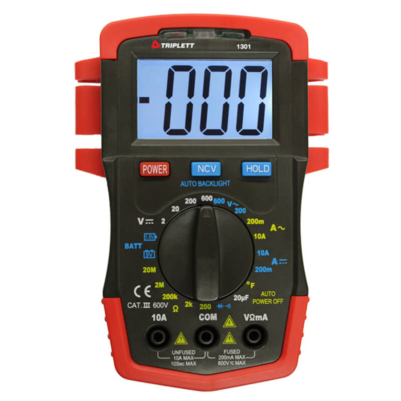 Triplett 1301 Compact Digital Multimeter Handheld