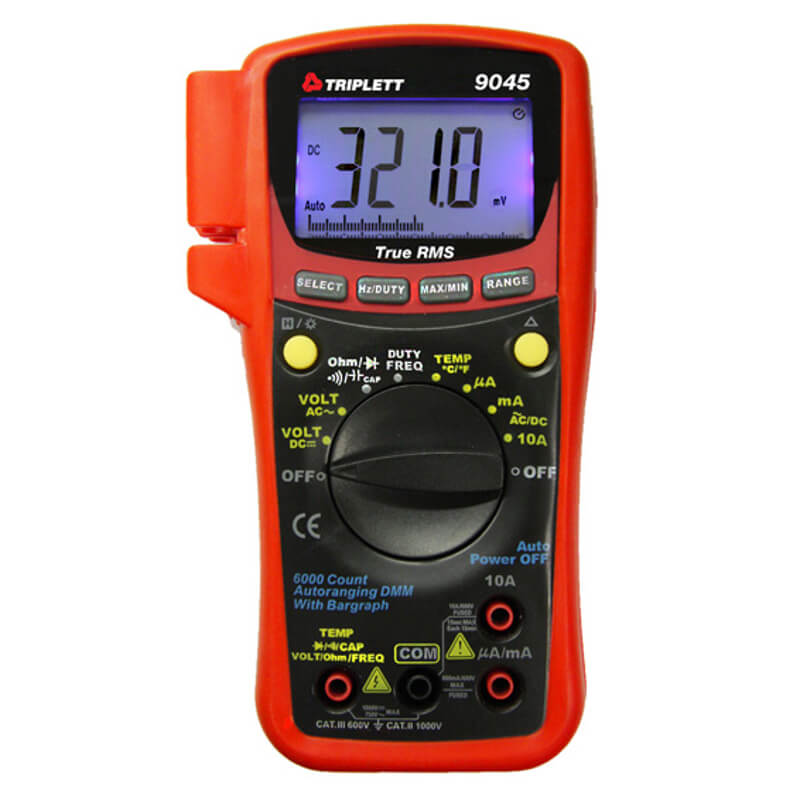 Triplett 9045 Compact Digital Multimeter DMM True RMS