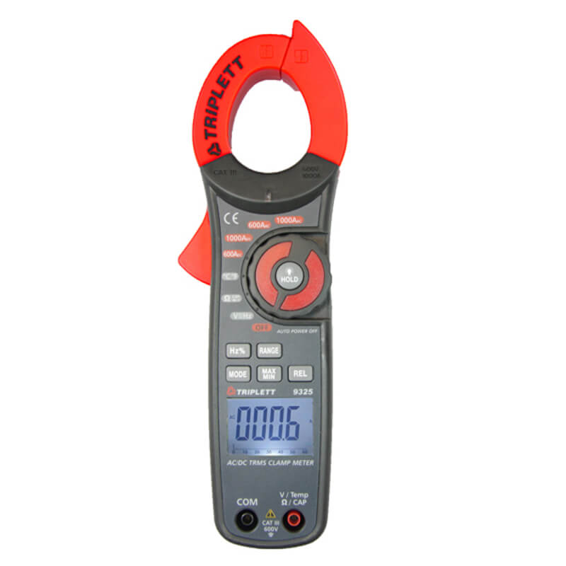 Triplett 9325 AC/DC Digital Clamp Meter True-RMS