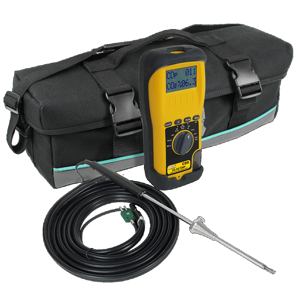 UEi C85 Kit Combustion Analyzer with Long Lasting EOS Technology