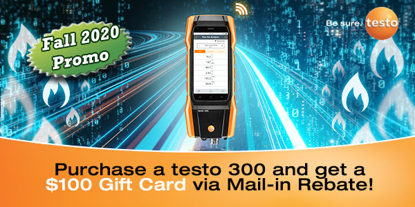 Testo 300 Combustion Analyzer Promotion