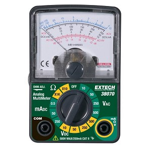 Extech 38070 Analog Multimeter Compact Design