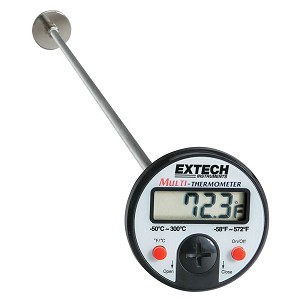 Extech 392052 Stem Dial Thermometer for Flat Surfaces