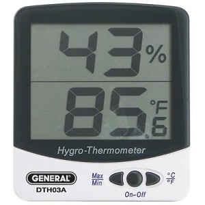 General Tools DTH03A Humidity Temperature Meter with Large Display