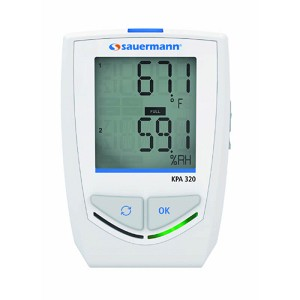 Sauermann KPA320 Data Logger 3 Sensors Temperature Humidity Atmospheric Pressure with Bluetooth