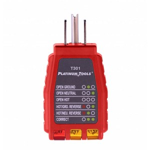 Platinum Tools T301C 110V Electric Outlet and Wire Tester