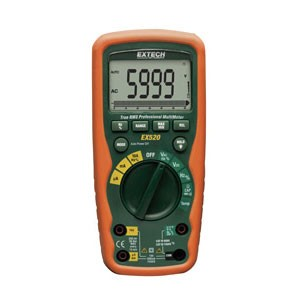Extech EX520 TRMS Heavy Duty Digital Industrial Multimeter