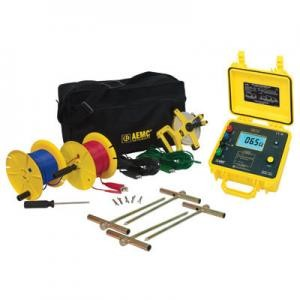 AEMC 4620-300 4-Point Digital Ground Resistance Meter Kit