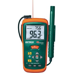 Extech RH101 Hygro-Thermometer with IR Thermometer