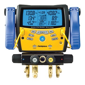 Fieldpiece SMAN460 Wireless 4-Port Digital Manifold with Vacuum Gauge