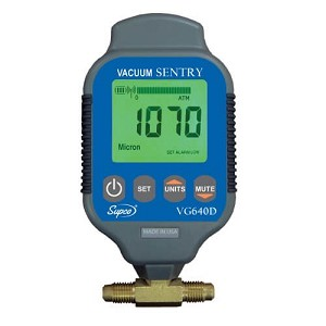 Supco VG640D Dual Port Vacuum Sentry Electronic Micron Gauge